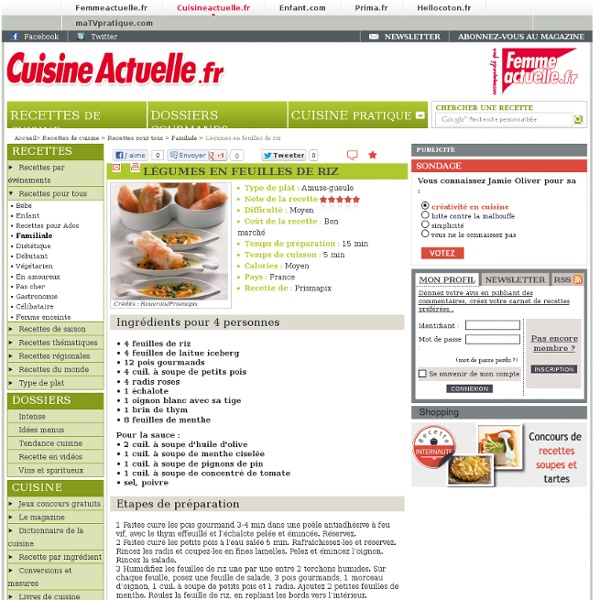 Légumes en feuilles de riz : recettes de Légumes en feuilles de riz