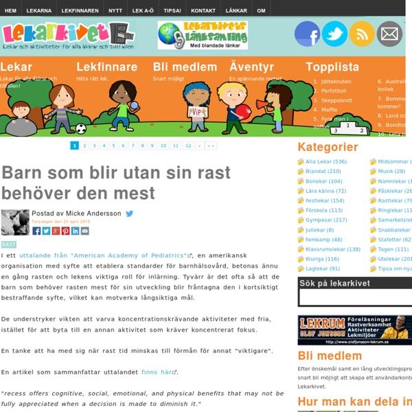 1999 - 2014 Din lekplats på nätet! -