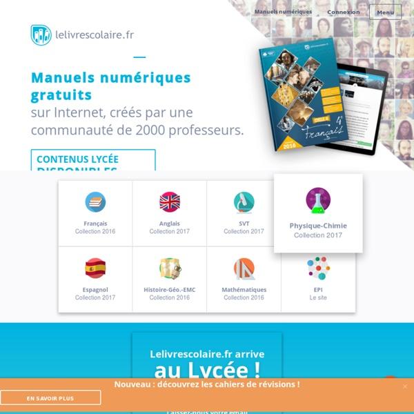 Une nouvelle génération de manuels scolaires - Lelivrescolaire.fr