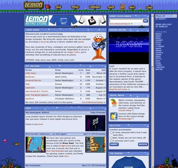 Lemon Amiga - Games, Download, Emulator, Cheats & Forum