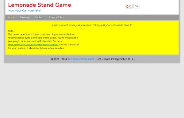 Lemonade Stand Game