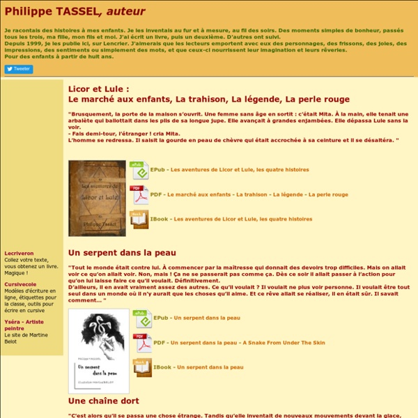 Lencrier, romans de Philippe TASSEL