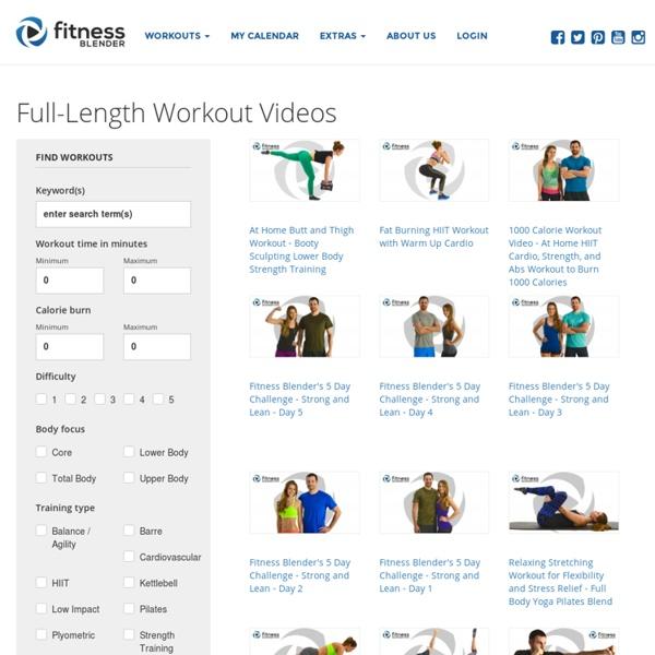 Full Length Workout S Fitness Blender