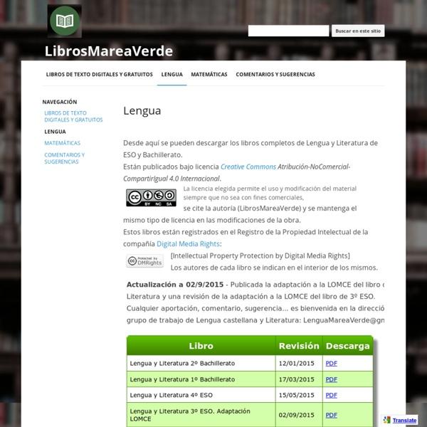 Lengua - LibrosMareaVerde
