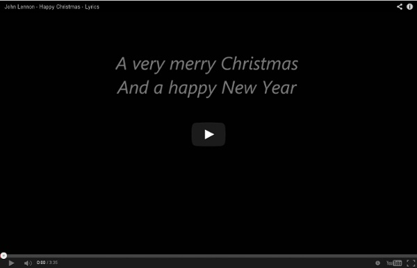 John Lennon - Happy Christmas - Lyrics