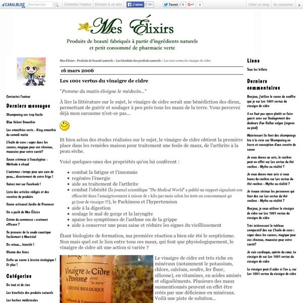 Vertus du vinaigre de cidre contre l'obésité