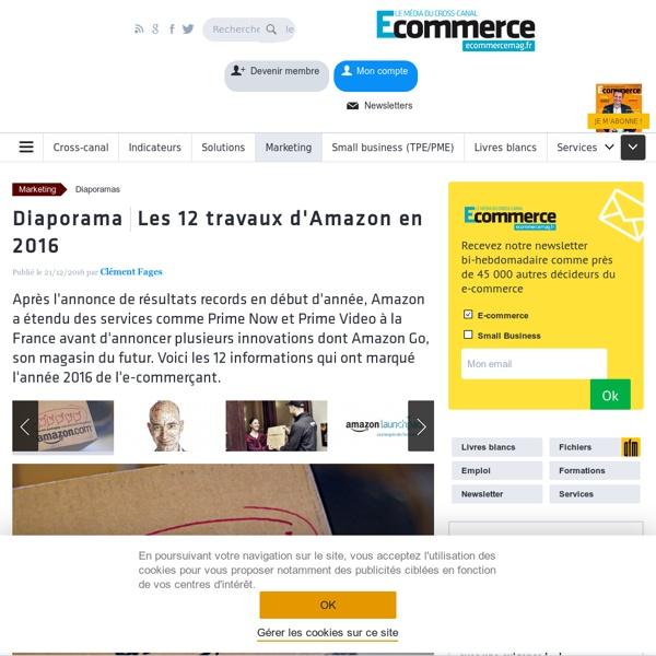 Les 12 travaux d'Amazon en 2016