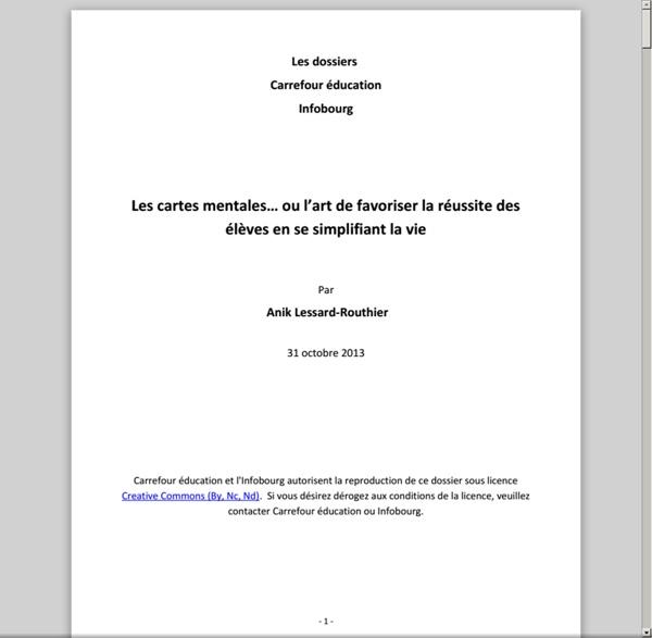 Les dossiers Carrefour éducation Infobourg - Les cartes mentales.pdf