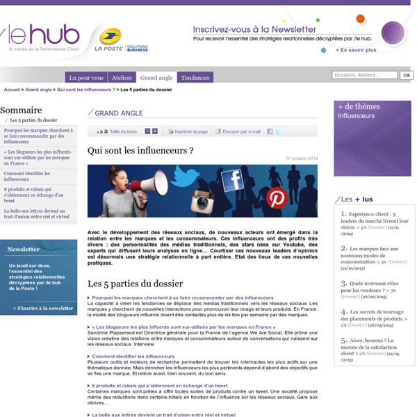 - Tendances du marketing relationnel, consommation : Le'Hub