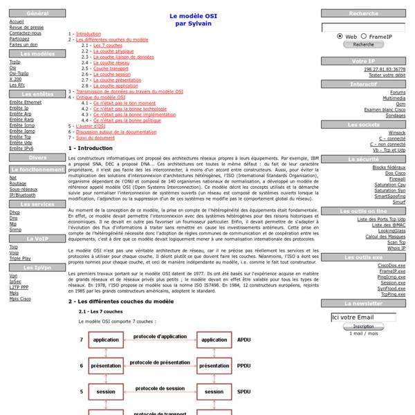 Les 7 couches du modele OSI