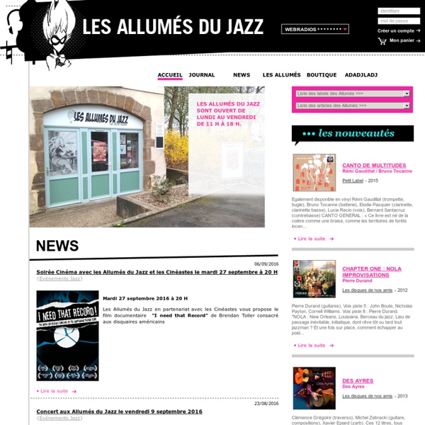 LES ALLUMES DU JAZZ - LABELS INDEPENDANTS / www.allumesdujazz.com