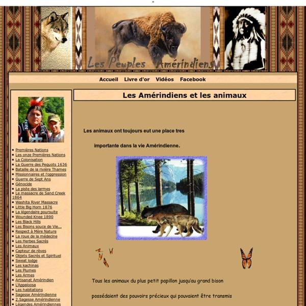 Les Amérindiens et les animaux