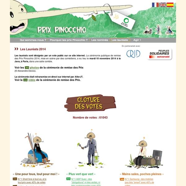 Les Amis de la Terre : Le Prix Pinocchio