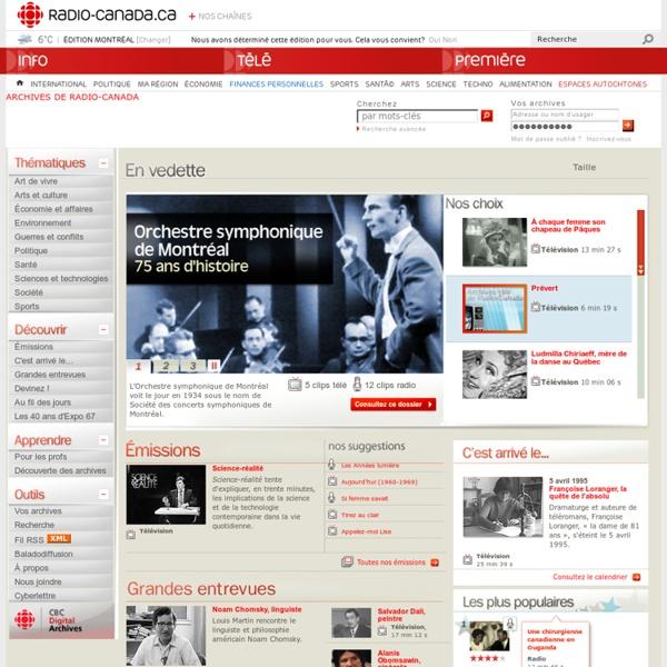 Les Archives de Radio-Canada