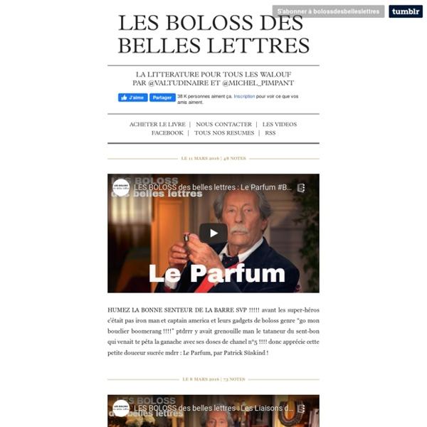 Les boloss des Belles Lettres