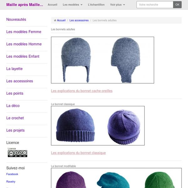 Bases bonnets adultes