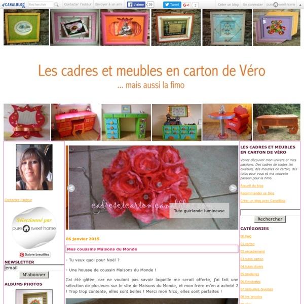 Les cadres et meubles en carton de Véro
