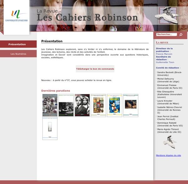 Cahiers Robinson (revue)