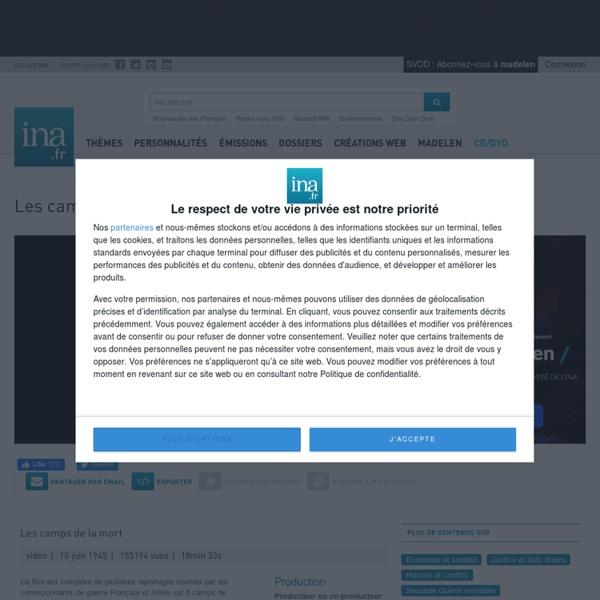 Video Les camps de la mort notice archives video ina.fr