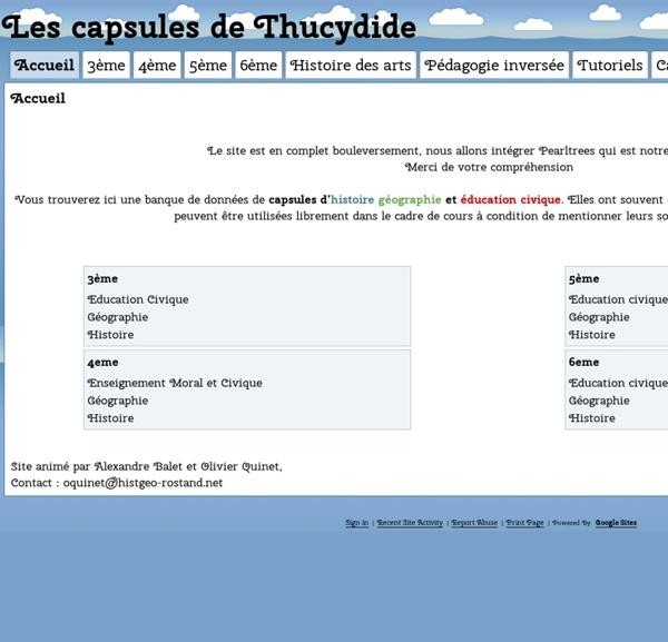 Les capsules de Thucydide