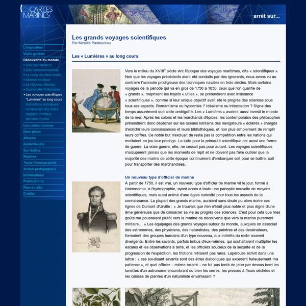 Les voyages scientifiques du 18ème siècle [ressource]