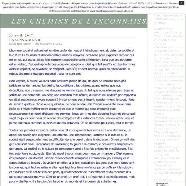 LES CHEMINS DE L'INCONNAISSANCE