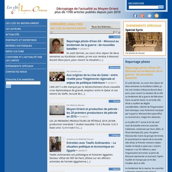 Les clés du Moyen-Orient (site internet)