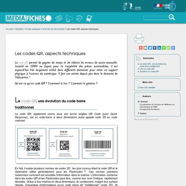 Les codes QR, aspects techniques
