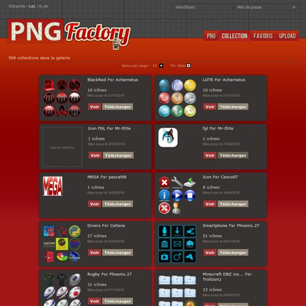 Les collections d'icônes PNG