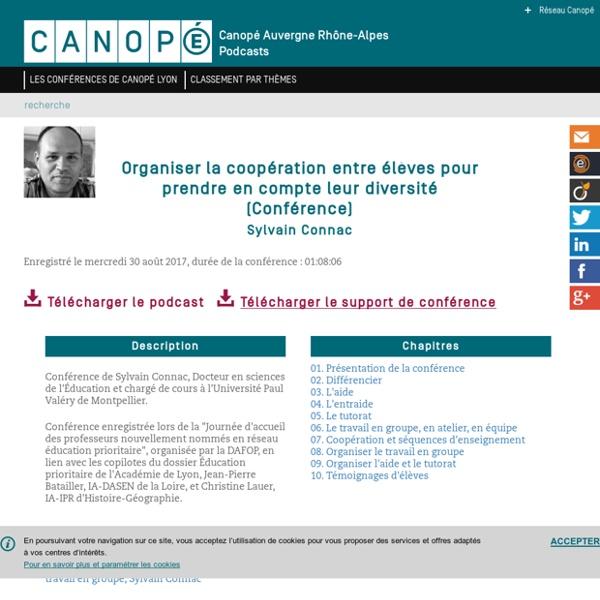 Les conférences de Canopé Lyon