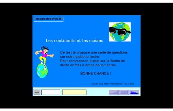 Test - Les continents et les océans
