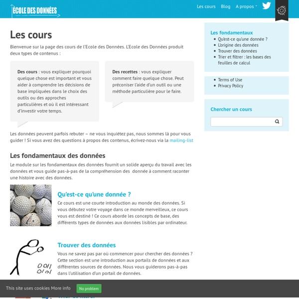 Ecole des Données – Version française - Savoir c'est pouvoir