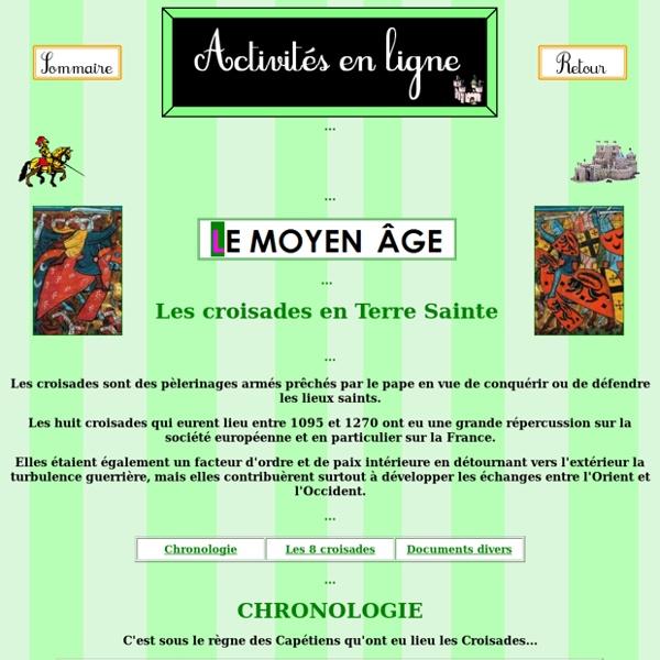Les croisades au Moyen Âge