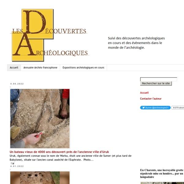 Les découvertes archéologiques