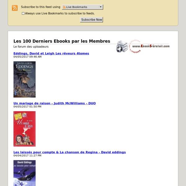 Les 100 Derniers Ebooks par les Membres