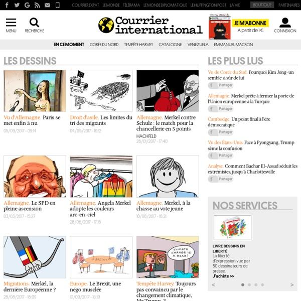 Courrier international, les dessins