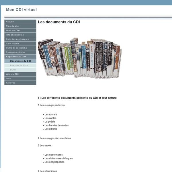 Les documents du CDI