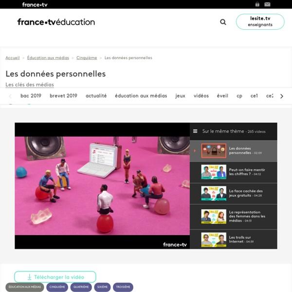"""Les données personnelles : une vidéo de l'émission """"Les clés des médias"""" Durée 2 mn"""