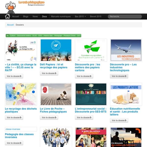 WebPédagogique - Les dossiers