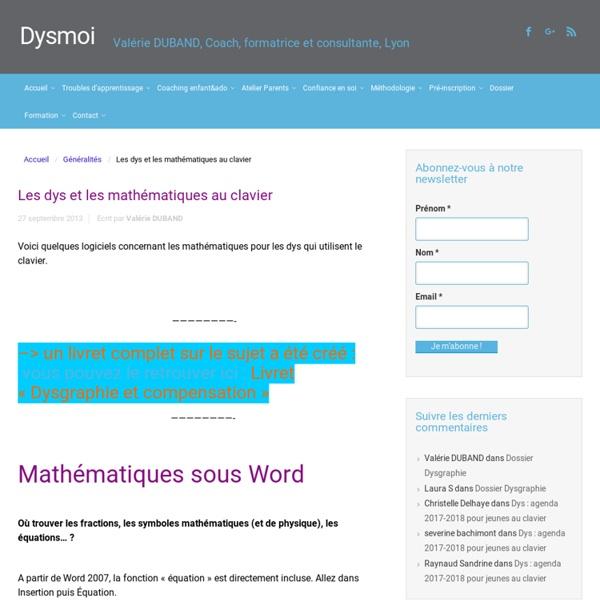 Les dys et les mathématiques au clavier