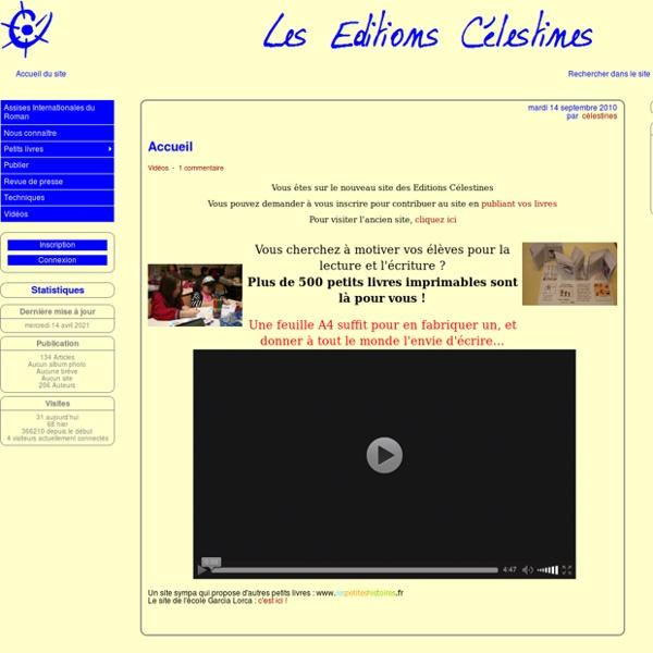 Les Éditions Célestines : les petits livres