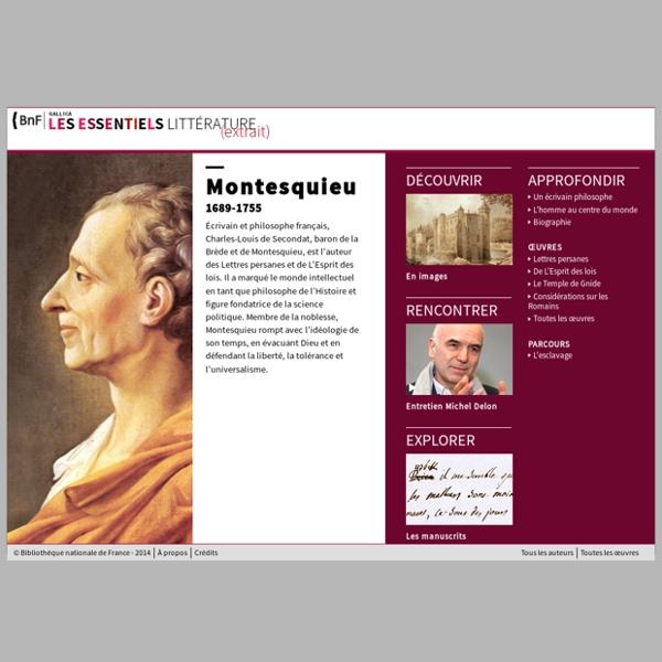 Les essentiels - Montesquieu