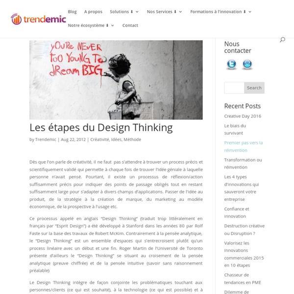Les étapes du Design Thinking