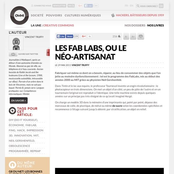 Les Fab Labs, ou le néo-artisanat
