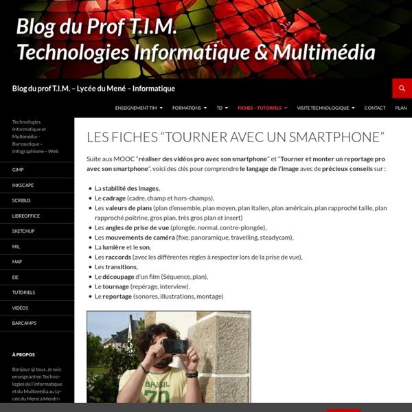 Les Fiches «Tourner avec un smartphone»