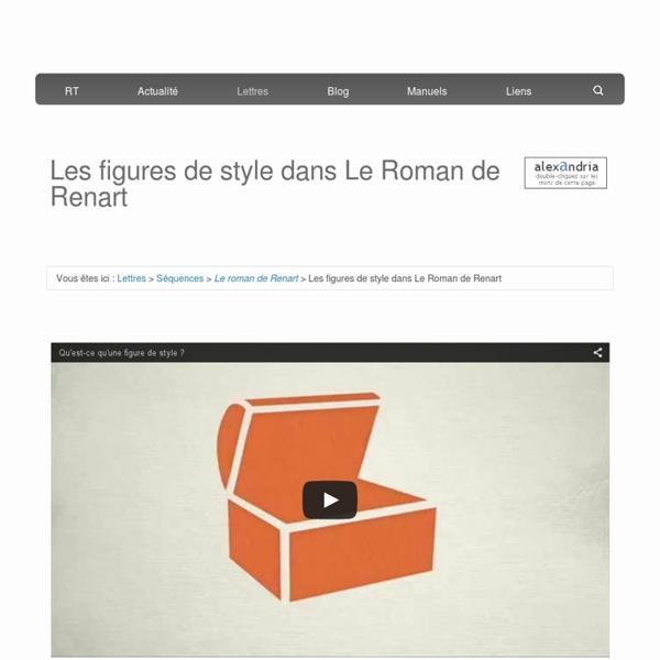Les figures de style dans Le Roman de Renart