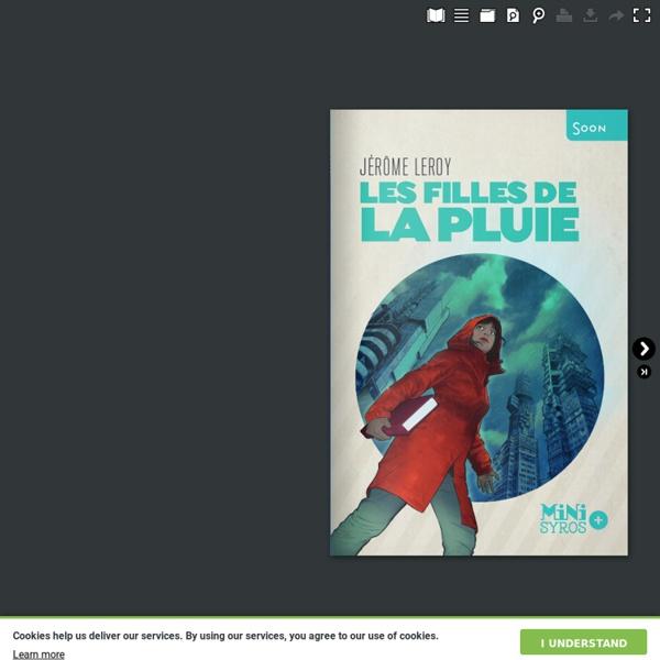 Les Filles de la pluie - Jérôme Leroy (roman SF)