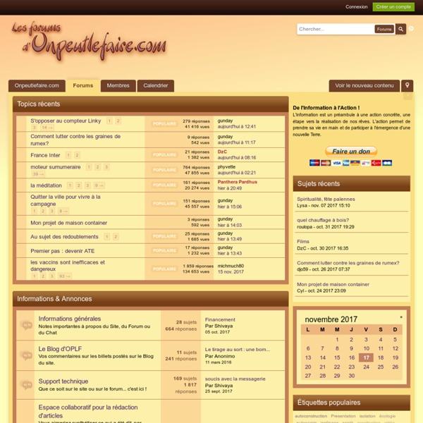 Les Forums d'Onpeutlefaire.com