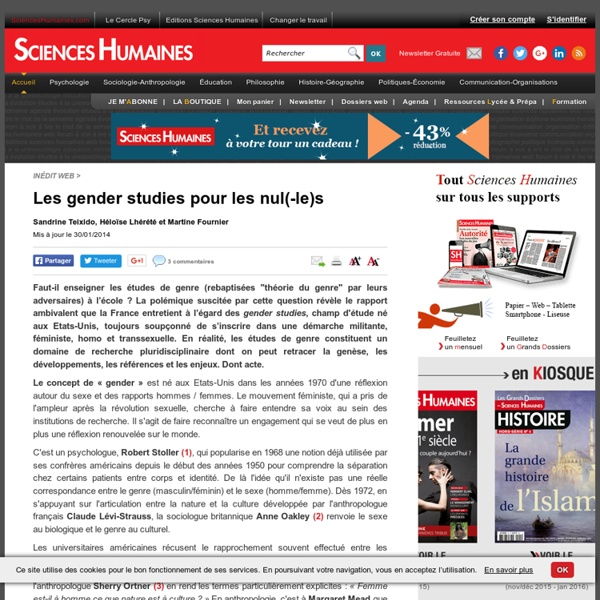 Les gender studies pour les nul(-le)s