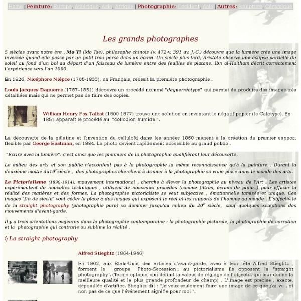 Les grands photographes
